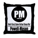 PM Powell-Mason Cable Car (Cl Throw Pillow
