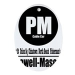 PM Powell-Mason Cable Car (Cl Oval Ornament