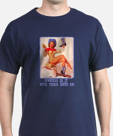 Cowgirls Do It Boots T-Shirt