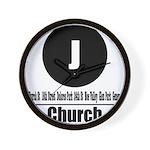 J Church (Classic) Wall Clock