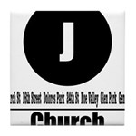 J Church (Classic) Tile Coaster
