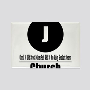 J Church (Classic) Rectangle Magnet