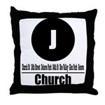 J Church (Classic) Throw Pillow