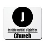J Church (Classic) Mousepad