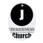 J Church (Classic) Oval Ornament
