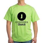 J Church (Classic) Green T-Shirt