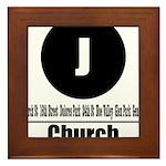 J Church (Classic) Framed Tile