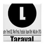 L Taraval (Classic) Tile Coaster