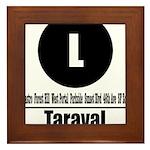 L Taraval (Classic) Framed Tile