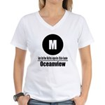 M Oceanview (Classic) Women's V-Neck T-Shirt