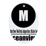 M Oceanview (Classic) Oval Ornament