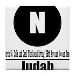 N Judah (Classic) Tile Coaster