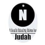 N Judah (Classic) Oval Ornament