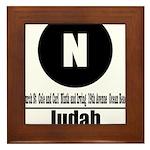 N Judah (Classic) Framed Tile