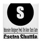 S Castro Shuttle (Classic) Tile Coaster