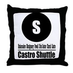 S Castro Shuttle (Classic) Throw Pillow