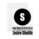 S Castro Shuttle (Classic) Greeting Cards (Pk of 1