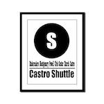 S Castro Shuttle (Classic) Framed Panel Print