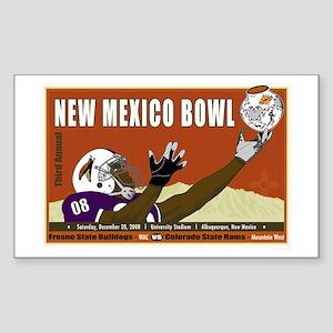New Mexico Bowl 2008 Rectangle Sticker