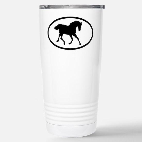 Equestrian Stainless Steel Travel Mug