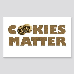 Cookies Matter Rectangle Sticker