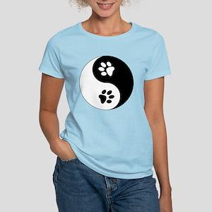 Yin Yang Paws Women's Light T-Shirt