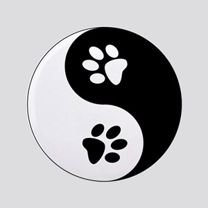Yin Yang Paws Button