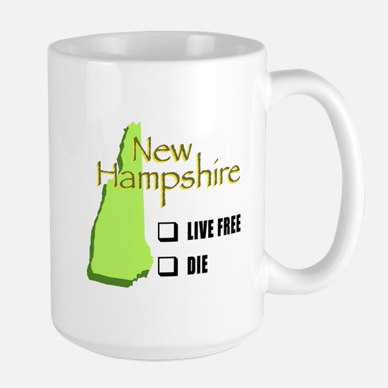 Live Free or Die New Hampshire Large Mug