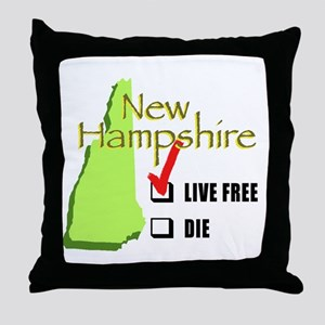 Live Free or Die New Hampshire Throw Pillow