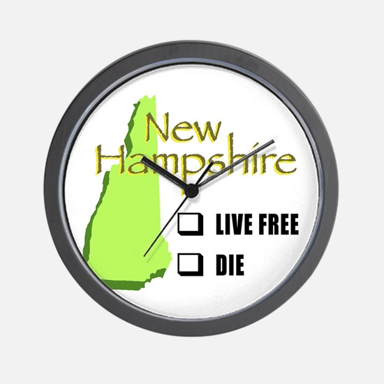 Live Free or Die New Hampshire Wall Clock