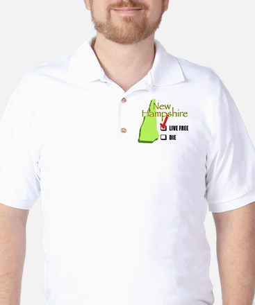 Live Free or Die New Hampshire Golf Shirt