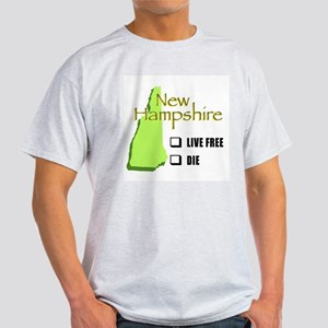 Live Free or Die New Hampshire Light T-Shirt