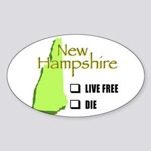 Live Free or Die New Hampshire Sticker (Oval