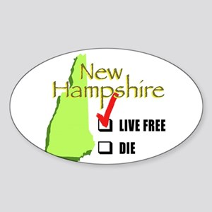 Live Free or Die New Hampshire Oval Sticker