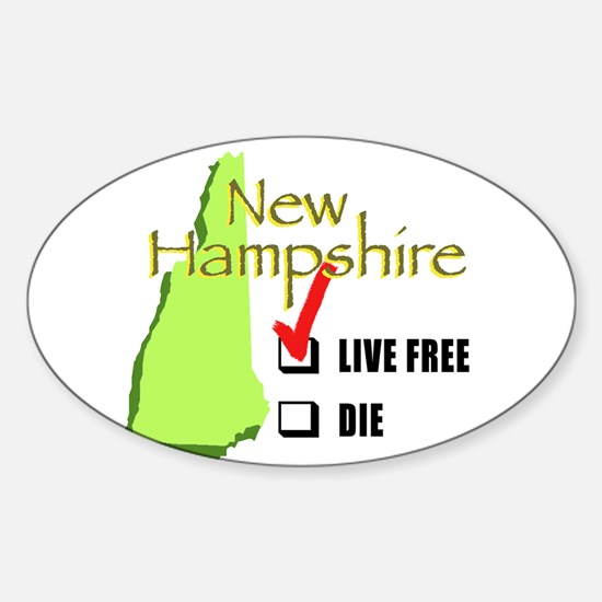 Live Free or Die New Hampshire Oval Decal