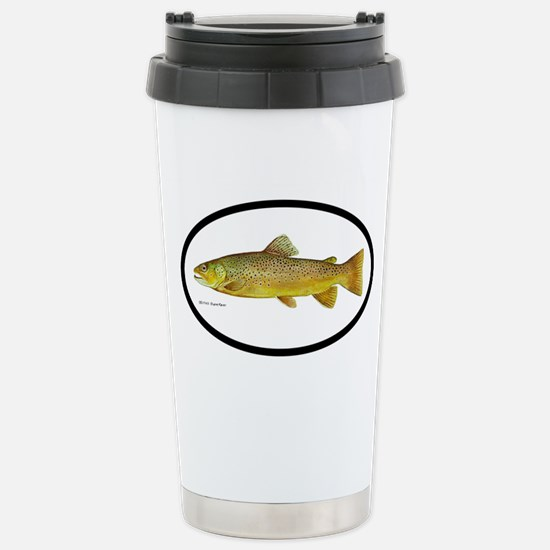 Trout Fishing Stainless Steel Travel Mug