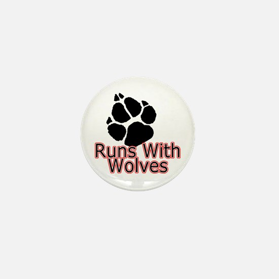 Runs With Wolves Mini Button