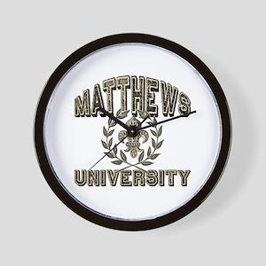 Matthews Family Name University Wall Clock