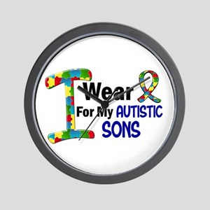 I Wear Puzzle Ribbon 21 (Sons) Wall Clock