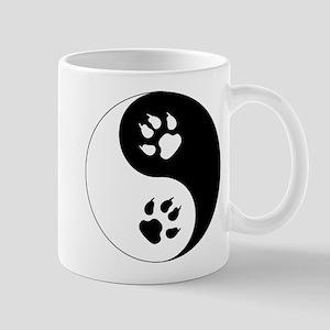 Yin Yang Cat Paws Mug