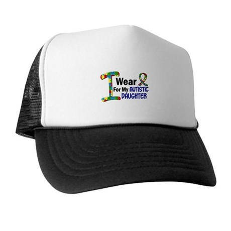 I Wear Puzzle Ribbon 21 (Daughter) Trucker Hat