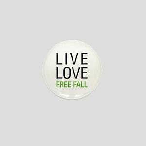 Live Love Free Fall Mini Button