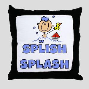 Splish Splash Bath Throw Pillow