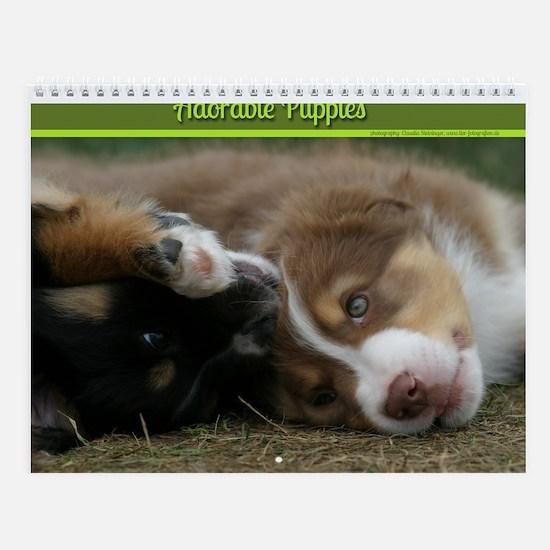 Adorable Puppies Wall Calendar