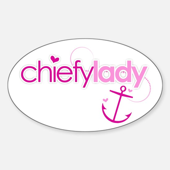 Chiefy Lady Oval Decal