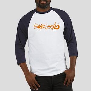 Orange Melody Baseball Jersey