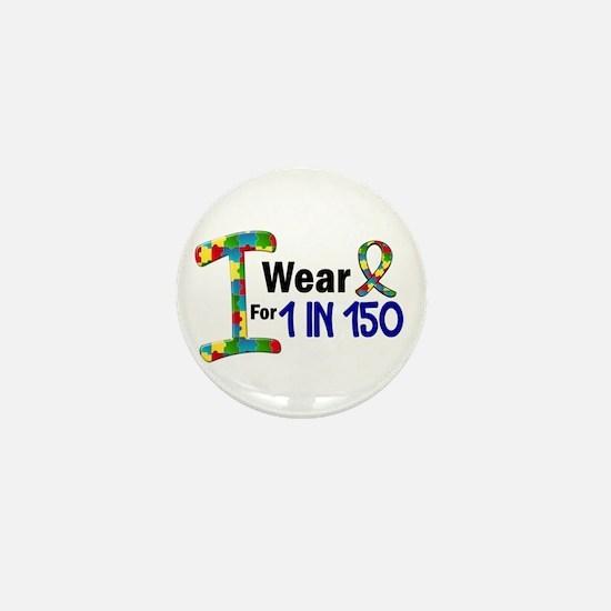 I Wear Puzzle Ribbon 21 (1 In 150) Mini Button