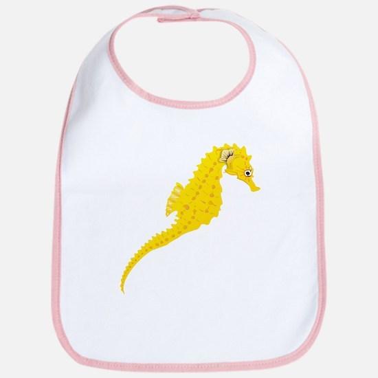 Yellow Seahorse Bib
