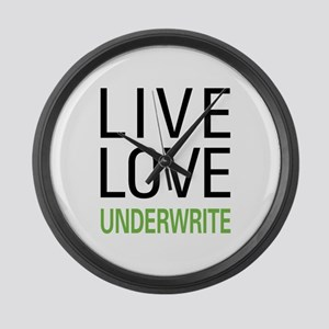 Live Love Underwrite Large Wall Clock