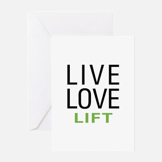 Live Love Lift Greeting Card